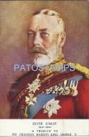 24236 ROYALTY UK ART MAJESTIC KING GEORGE V POSTAL POSTCARD - Familles Royales