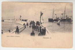 Oostende,  Ostende, Postkaart Getrokken Van De Pier Met Ferry En Vissersboten  (pk26622) - Oostende