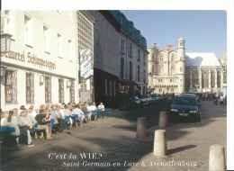 Saint Germain En Laye - 78 - Et Aschaffenburg - Carte Papier Souple Jumelage Des Communes  C'est La WIE Scan Recto Verso - St. Germain En Laye (Château)