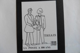 Carte Postale :La Poste  A 100 Ans 1888/1988 THIAIS - Poste & Facteurs