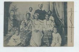 Birmanie : GP D'une Famille Chrétienne  En 1920 (animé) PF. - Cartes Postales