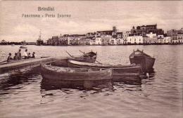 BRINDISI PANORAMA PORTO INTERNO ANNO 1906/1910 - Brindisi