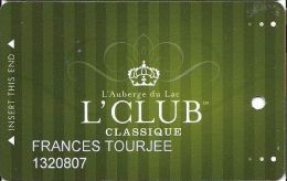 L´Auberge Du Lac Casino Lake Charles LA 4th Issue Slot Card - Casino Cards