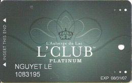 L´Auberge Du Lac Casino Lake Charles LA Platinum Slot Card - Casino Cards