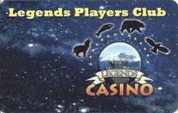 Legends Casino Toppenish WA Slot Card  (Blank) - Casino Cards