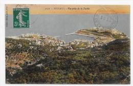 MONACO EN 1912 - N° 1032 - VUE PRISE DE LA TURBIE - BEAU CACHET - LEGER PLI EN HAUT A DROITE - CPA  VOYAGEE - Monaco