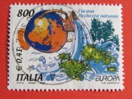 ITALIA USATI 2001 - EUROPA UNITA 2001 Acqua Ricchezza Naturale - SASSONE 2541 - RIF. G 0228 LUSSO - 6. 1946-.. Repubblica