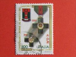 ITALIA USATI 2001 - CAVALIERI DEL LAVORO - SASSONE 2543 - RIF. G 0313 LUSSO - 6. 1946-.. Repubblica