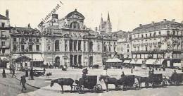 CPA 49 ANGERS Place Du Ralliement Le Théatre  Animée 1923 - Angers