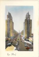 Lyon - Gratte-Ciel - Avenue Henri Barbusse - Edition Combier - Carte Cim Colorisée - Lyon