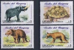 MTDR-BK2-372 MINT ¤ URUGUAY 1998 4w In Serie  ¤ DINOSAURS - PREHISTORICS - PRÉHISTORIQUES - DINO'S - PREHISTORIE - Prehistorics