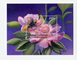 Rose Et Insecte-Congo RD 2001-YT B66AF***MNH - Insectos