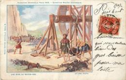 75 PARIS EXPOSITION UNIVERSELLE 1900 EXPOSITION MINIERE SOUTERRAINE UNE MINE AU MOYEN-AGE - Exhibitions
