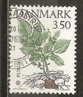Danemark Denmark 1992 Europe Fleur Flower Obl - Gebruikt