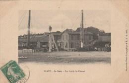 CPA BLAYE (Gironde) - La Gare : Les Bords Du Chenal - Blaye