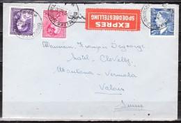 Lettre EXPRES De 1953 De Bruxelles Pour La Suisse (Montana-Vermala) - LOOK!!!! - 1936-51 Poortman