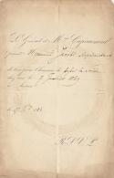 General Capiaumont Soirée 1869 Fond Ministre Jacobs - Faire-part