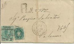 UMC20-Stampa Raccomandata Con 2 Cent. Valevole Per Stampe E 5 Cent. Stemma 20.6.1891 - Rara - Firma E. Diena - 1878-00 Humberto I