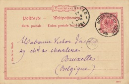 Carte Postale Munster Am Stein Bruxelles - Lettres & Documents