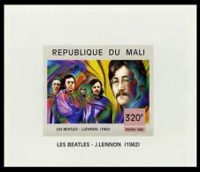 Mali 1447 Feuillet Imperforé Beatles - Cantanti