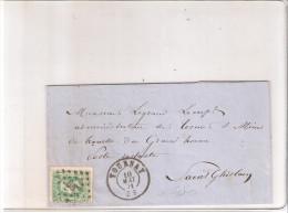 Belgique N° 30  Sur Lettre De 1871 De Tournai à St.Ghislain (à Voir) - 1869-1883 Léopold II
