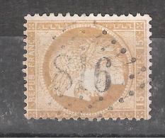 CERES N° 55, 15 C Bistre , Obl GC 816 De CERISY LA SALLE , Manche , Indice 9, TB - 1871-1875 Cérès