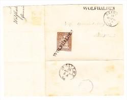 Heimat AR Wolfhalden Balkenstempel 5Rp. Strubel 28.3.1861 Heiden Auf Briefstück - Lettres & Documents