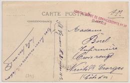 ST IGNACE Cote D'Or, HOPITAL DEPOT DE CONVALESCENTS N° 81. - Marcofilia (sobres)