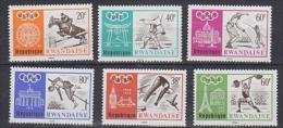 Rwanda 1968 Olympic Games 6v ** Mnh (26434) - Rwanda