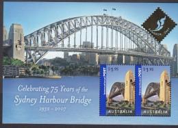 AUSTRALIA, 2007 SYDNEY HARBOUR BRIDGE O/P BANGKOK MINISHEET MNH - 2000-09 Elizabeth II