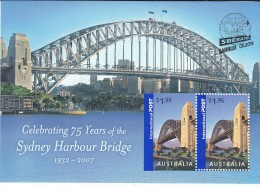 AUSTRALIA, 2007 SYDNEY HARBOUR BRIDGE O/P PRAGUE  MINISHEET MNH - 2000-09 Elizabeth II