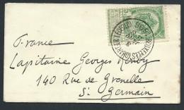 BELGIQUE - Enveloppe Pour La France En 1896 -  A Voir - Lot P13915 - 1893-1907 Wappen