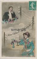 ALLO ! ALLO !! BAISER - (carte Fantaisie Avec Telephone) - Fancy Cards