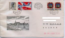 Vegetaux,fleur,rose,obliteration Illustrée Rose,blason,gravure,dessin Ville Nove Mesto Nad Metuji,lettre 1982 - Roses