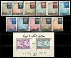 Afghanistan 1962. ~ YT 644 à 654 + BF 14* - Éradication Du Paludisme (Série 11 V.) - Afghanistan