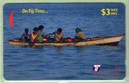 Fiji - 1999 On Fiji Time - $3 Fishing - FIJ-155 - VFU - Fidschi