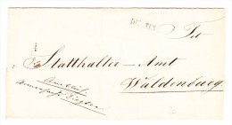 Heimat BL DIEGTEN Balkenstempel Auf Briefhülle Nach Waldenburg Rücks. Stempel Liestal 13 Mai - 1882-1906 Wappen, Stehende Helvetia & UPU