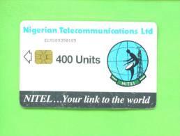 NIGERIA - Chip Phonecard 400 Units Reverse Sateliite Dish - Nigeria