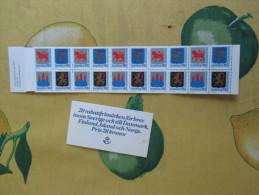 1982 CARNET Libretto STEMMI Facciale 28 Korone Sv.NUOVO Mint 20 Rabattfrimarken - Ongebruikt