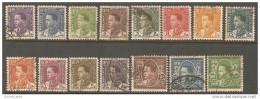 Iraq 1934 LOT Of 15 Different Values - King Ghazi - Iraq