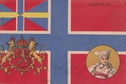 NORVEGE/Blason/Drapeau/ Réf:C3821 - Norvège