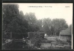 CPA Saint-Michel-sur-Orge, Vue De L'Orge Avec Le Petit Pont - Saint Michel Sur Orge