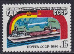 4202. Russia, 1986, Rail Ferry Mukran - Klaipeda, MNH (**) Michel 5642 - 1923-1991 USSR