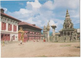 NEPAL - BHAKTAPUR DURBAR SQUARE - COURTESY: S.D. PANT -  1970s ( 170 ) - Nepal