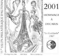 Bloc C.N.E.P 2001 - Hommage à Decaris - CNEP