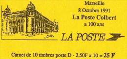 Carnet Marseille 8 Octobre 1991 La Poste Colbert A 100 Ans - Libretas