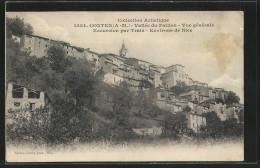 CPA Contes, Vallée Du Paillon, Vue Générale - Contes