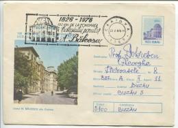 N.Balcescu College, Craiova - Stationery (stamp : Original Design) - Architecture