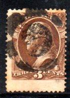 "Y1367 - STATI UNITI 1873 , Servizio 3 Cent N. 84 "" Jumbo Stamp "" Usato - Etats-Unis"