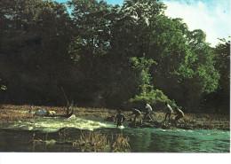 CP - PHOTO - GUYANE FRANCAISE  - HAUT MARONI - PASSAGE DES RAPIDES A LA CORDELLE - 129  G. DELABERGERIE - Guyane